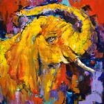 original   abstract elephant painting-86706