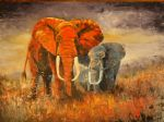 original   abstract elephants 3 painting-86708