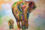 original   two elephants 2 painting-86738