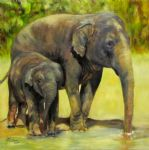 original   two elephants 3 painting-86739