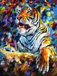 original abstract angry tiger painting-86512