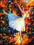 original abstract ballet dance painting 86514