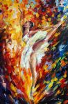 original abstract ballet dancer painting 86516