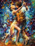 original abstract dancers painting 86419