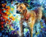 original abstract dog 3 painting 86523