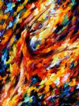 original abstract flame dance painting 86526