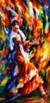 original abstract flamenco dancer painting-86528