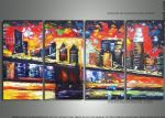 original abstract new york landscape painting 86529
