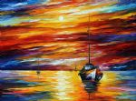original almost morning seascape painting-86538