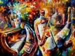 bottle jazz music by original painting