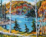 original canada mountain landcsape painting