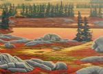 original canada mountain landscape painting
