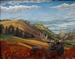 original canadian landscape moose canada animal painting-86457