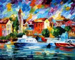 city scenery cozumel by original painting