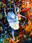 original dazzle colour ballet dancer painting 86602