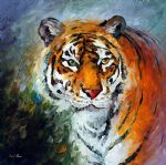 lonly tiger by original painting