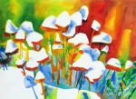 original opposites attract canada flowers painting-86486
