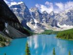 original river mountains scenery canada landscape painting-86494