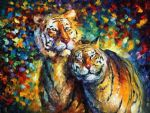 original sweetness tigers painting