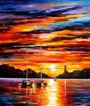 original the entrance to the harbor seascape painting