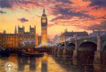 original thomas kinkade london painting