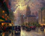 original thomas kinkade new york 5th avenue painting