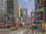 original thomas kinkade new york city 3 painting