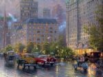 original thomas kinkade new york city 4 painting