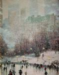 original thomas kinkade new york city 7 painting