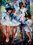 original young ballerinas painting