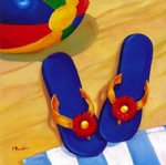 oscar bluhm a pair of slippers painting