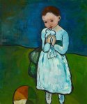 pablo picasso child holding a dove painting