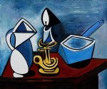 enamel saucepan by pablo picasso painting