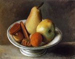fruit bowl with fruit by pablo picasso painting