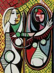 girl before a mirror ii by pablo picasso painting