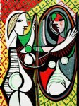 girl before a mirror iii by pablo picasso painting