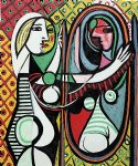 girl before a mirror by pablo picasso painting
