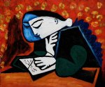 girl reading by pablo picasso painting