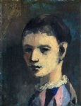 harlequin s head by pablo picasso painting