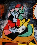 la lecture by pablo picasso painting