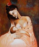 maternity artist interpretation by pablo picasso painting