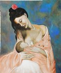 maternity by pablo picasso painting