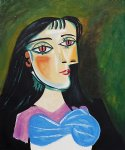 portrait of a women by pablo picasso painting