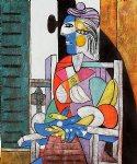 pablo picasso woman seated before the window painting