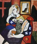 pablo picasso woman with book painting