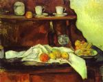a buffet by paul cezanne painting