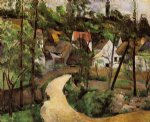 paul cezanne a turn in the road painting