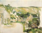 a turn on the road at roche by paul cezanne painting