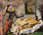 afternoon in naples with a black servant by paul cezanne paintings