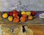 apples and biscuits by paul cezanne paintings